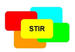 Het logo van STIR vertegenwoordigt dit bewustwordingsproces