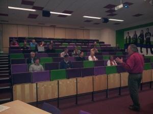 STIR avondcollege in de collegezaal van Fontys Eindhoven