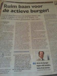 Het artikel in het Eindhovens Dagblad van 18 december 2013