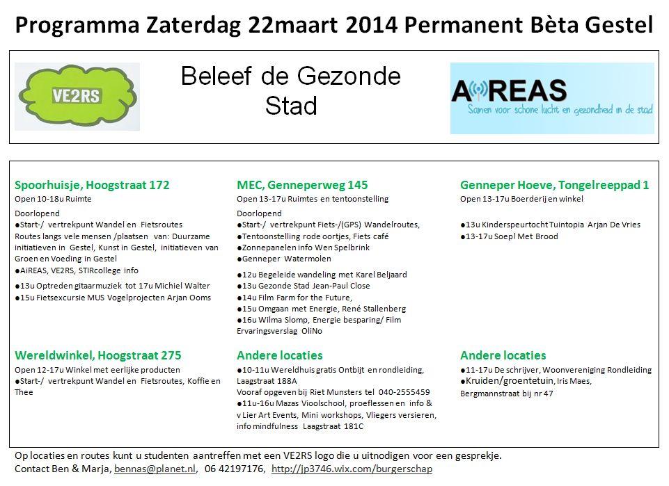 Programma Permanent Beta Gestel 22 / 23 maart (1/6)
