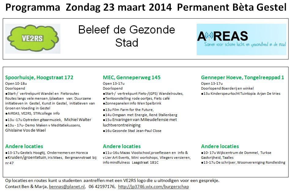 Programma Permanent Beta Gestel 22 / 23 maart (2/6)
