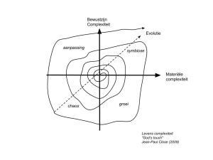 Het leven bestaat uit de energieke interactie tussen materie en bewustzijn