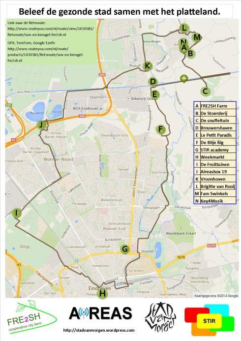 Van Eindhoven naar FRE2SJ Breugel langs allemaal duurzame initiatieven