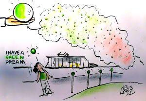 illustratie De weg naar schone lucht